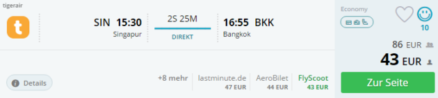 Flug Bangkok Deal