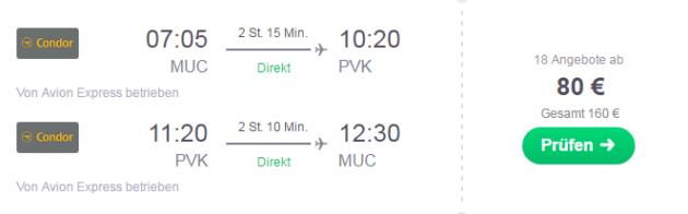 Flug von München