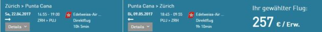 Flug Zürich Punta Cana