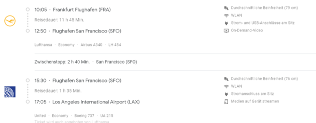 Google Flights Fluginfos