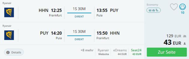Kroatien Flug