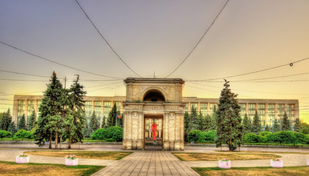Moldawien Chisinau Triumphbogen