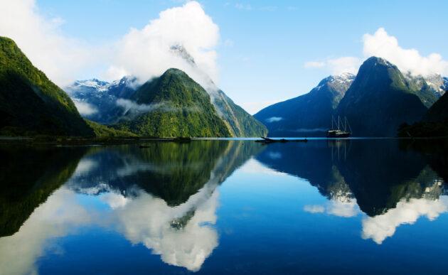 Neuseeland Landschaft Spiegelung
