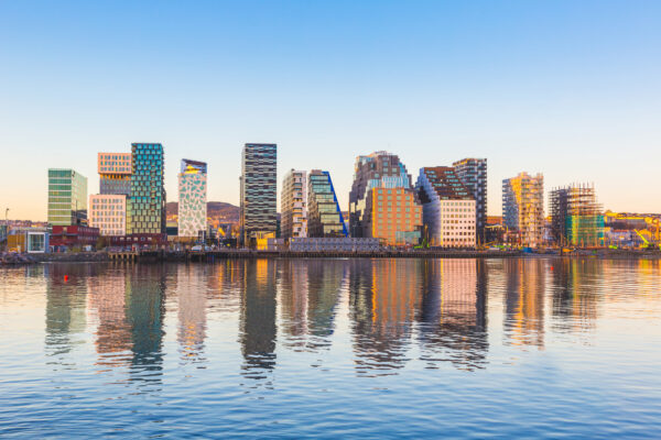 Norwegen Oslo Skyline