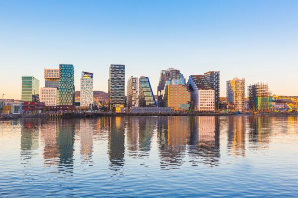 Norwegen Oslo Skyline