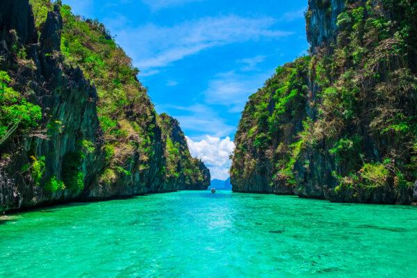 Philippinen Meer Felsen