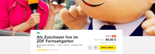 ZDF Fernsehgarten Angebot