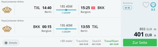 Berlin nach Bangkok