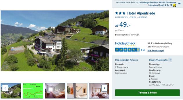 Hotel Alpenfriede Tirol