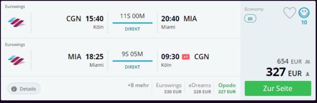 Flug Miami Deal