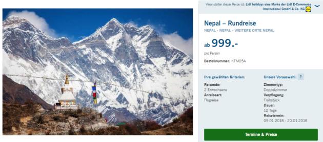 Nepal Rundreise
