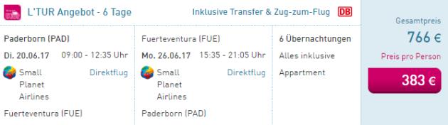 Paderborn nach Fuerte