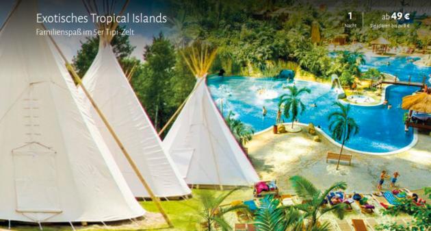 Tropical Island Angebot Familie