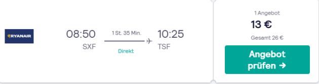 6 Tage Hinflug