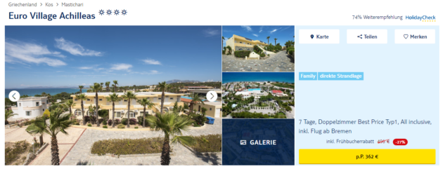7 Tage Kos All Inclusive Deal