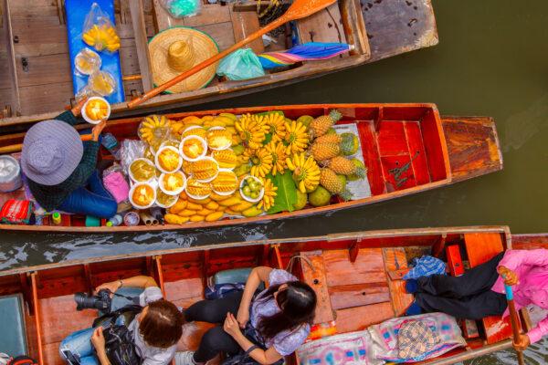 Bangkok Floating Market Boote Thailand