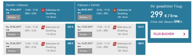 Cancun Flüge Deal