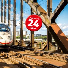 *Nur noch für kurze Zeit* Bahn-Sommerticket: 4 Fahrten durch Deutschland nur 24€/Fahrt für alle unter 27 Jahre