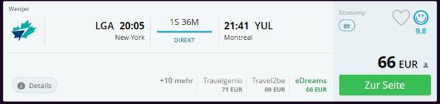Flug nach Montreal Deal