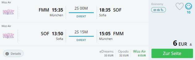 Flug Sofia Deal