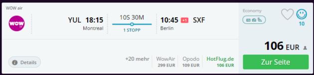 Flug nach Berlin