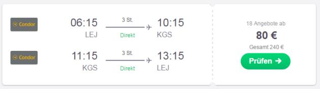 Leipzig nach Kos