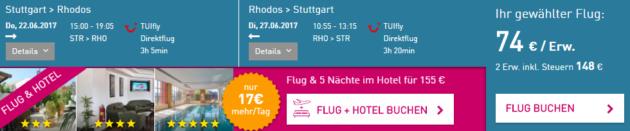 Flug Rhodos