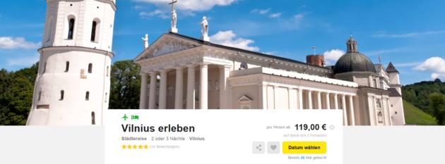 Vilnius Städtetrip Angebot