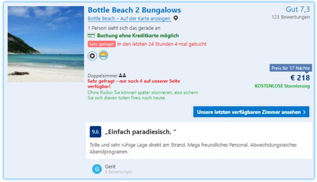 Bottle 2 Beach Bungalows