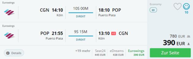 Flug Köln Puerto Plata