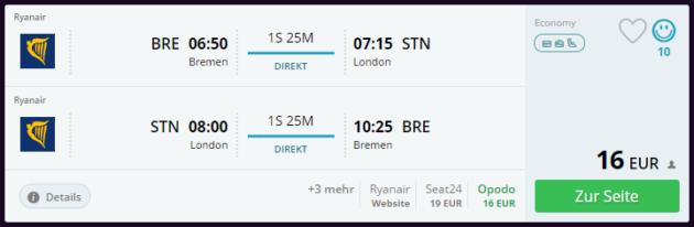Flug London Deal