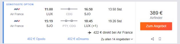 Luxembourg nach San Jose