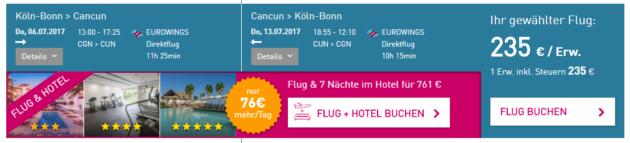 Köln nach Cancun