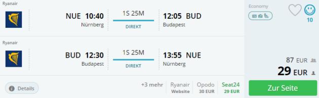 Nürnberg nach Budapest