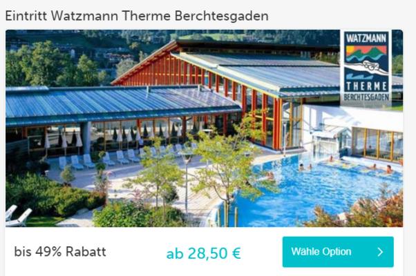 gutschein watzmann therme berchtesgaden spart 49 auf den tageseintritt und zahlt nur 14. Black Bedroom Furniture Sets. Home Design Ideas