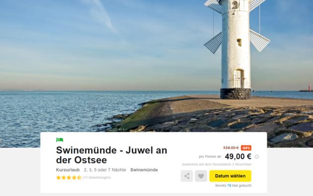 3 Tage an die Ostsee