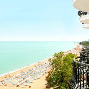5 Tage Goldstrand im TOP 4* AWARD Hotel mit Meerblick, All Inc, Flug, Transfer & Zug nur 298€