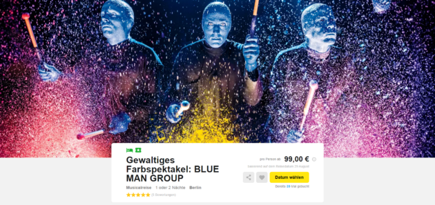 blue man group 2 tage berlin im top 3 ibis hotel mit. Black Bedroom Furniture Sets. Home Design Ideas