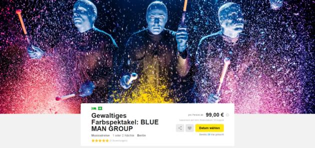 Blue Man Group 2 Tage Berlin Im Top 3 Ibis Hotel Mit Fruhstuck