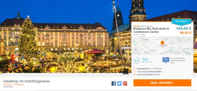 Dresden Radisson Blu Park Hotel Deal