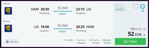 Lissabon Flug Deal