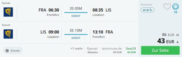 Lissabon Flug