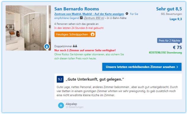 Madrid San Bernardo Rooms Deal
