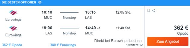 München nach Las Vegas