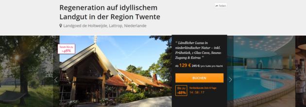 Niederlande Auszeit Angebot