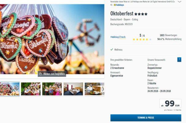 Oktoberfest Angebot