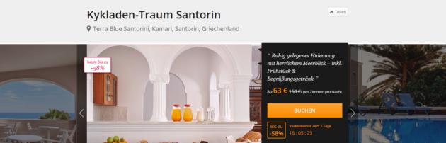 Santorini Unterkunft Angebot
