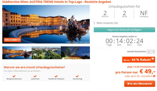 Städtereise Wien: AUSTRIA TREND Hotels in Top-Lage