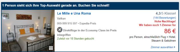 Wochenende Rom Angebot