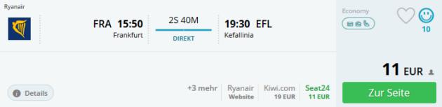 Flug Frankfurt Kefalonia
